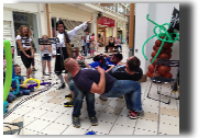 Pirate Show in Shopping Centre